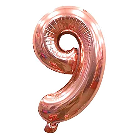 LRLRLQQ Cumpleaños 32 Pulgadas 0-9 Globo con Número De Oro ...