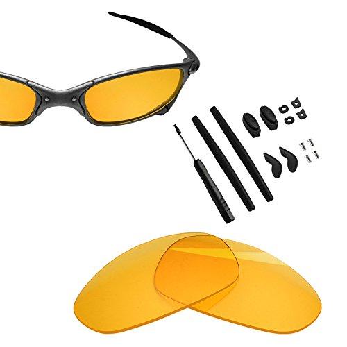 BlazerBuck Anti-salt Replacement Lenses & Sock Kit for Oakley Juliet - High Intensity yellow