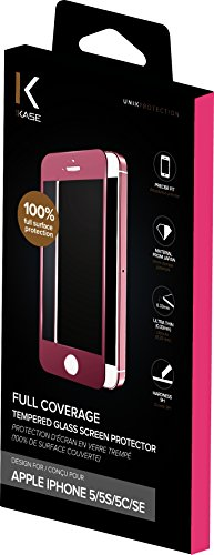 Protection d'écran en verre trempé (100% de surface couverte) pour iPhone 5/5s/SE, Or rose