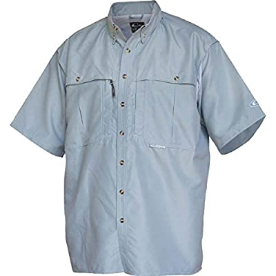 Drake Vented Wingshooter's Short Sleeve Casual Shirt (Large, Powder Blue)