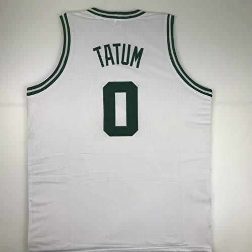 (Unsigned Jayson Tatum Boston White Custom Stitched Basketball Jersey Size Men's XL New No Brands/Logos )