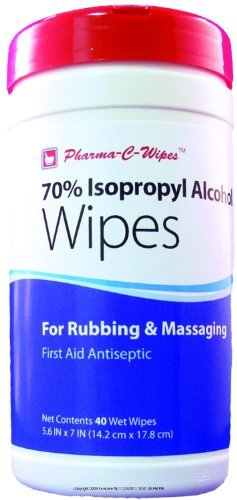 70% Isopropyl Alcohol Wipes, Alcohol Wipes Cannister 40Ct, (1 CASE, 6 EACH) ()