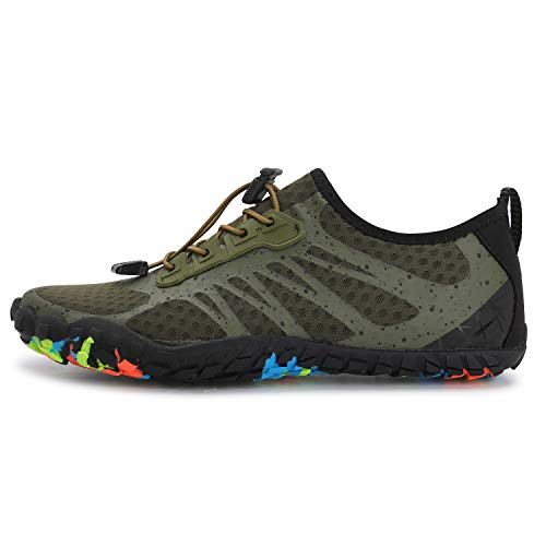 L-RUN Athletic Hiking Water Shoes Mens Womens Barefoot Aqua Swim Walking Shoes