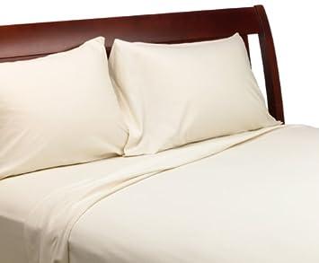 wamsutta 100 egyptian cotton jersey queen sheet set natural - Wamsutta Sheets