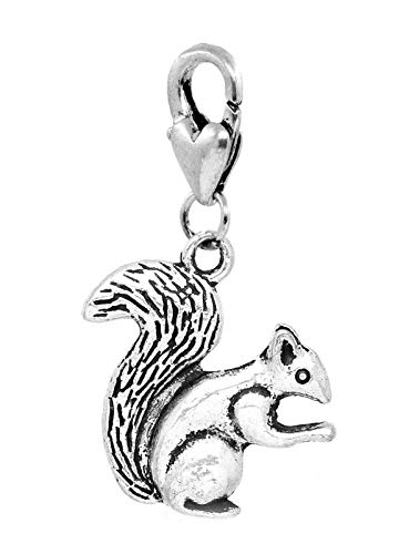 Squirrel Woodland Animal Woods Camping Lobster Claw Dangle Charm for Bracelets Crafting Key Chain Bracelet Necklace Jewelry Accessories Pendants