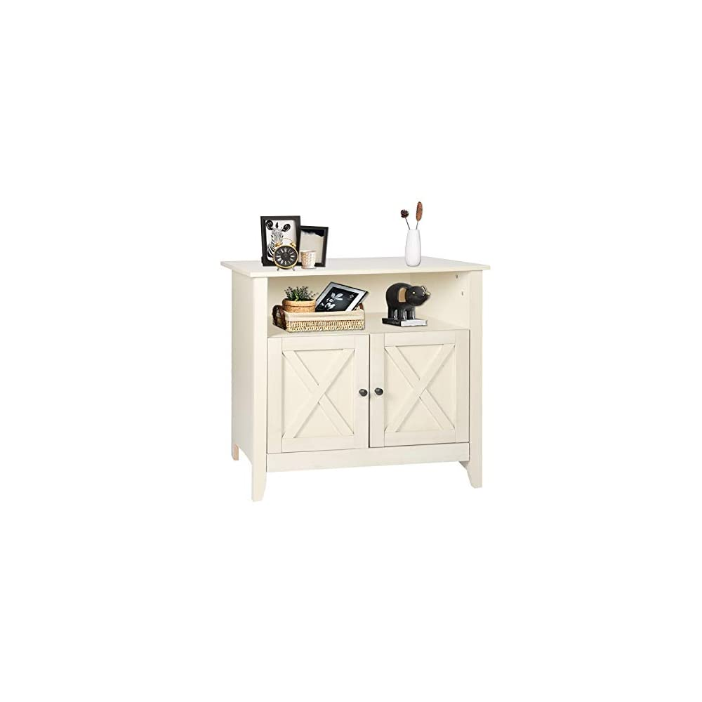 SGHB Accent Cabinet with Doors Storage Sideboard with Adjustable Shelves Farmhouse Buffet for Living Room Bedroom Home…