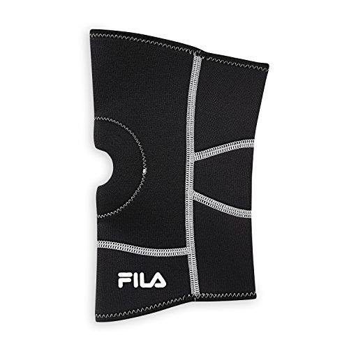 FILA Accessories Neoprene Knee Sleeve, Black, Small/Medium