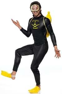 Buzo buzo traje del traje para los hombres negro Deep Diver Sr. Kost - de Smiffy