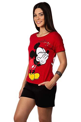 Blusa De Manga Curta E Decote Redonda - Estampa Mickey