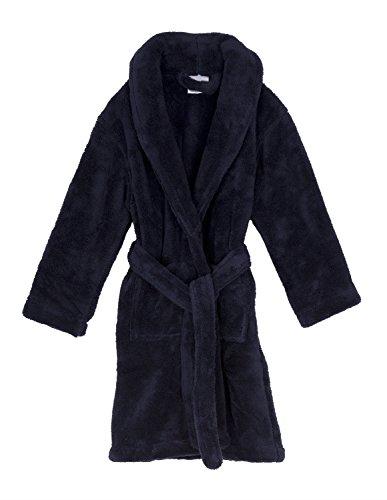 TowelSelections Big Boys' Robe, Kids Plush Shawl Fleece Bathrobe Size 10 (Boys Plush Robe)