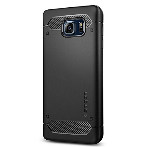 Spigen Rugged Armor Galaxy Note 5 Case with Resilient Shock Absorption and Carbon Fiber Design for Galaxy Note 5 2015 - Black