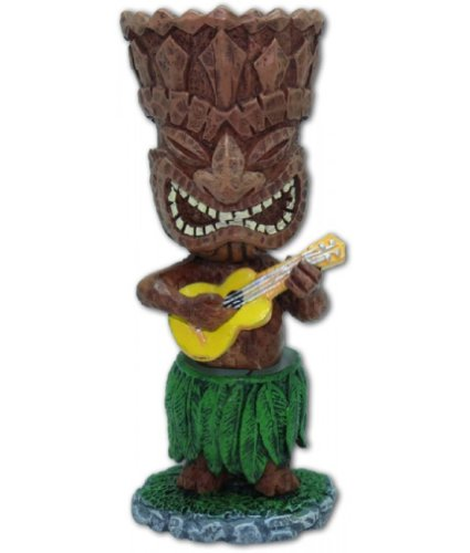 Hawaiian Miniature Dashboard Doll Tiki With Ukulele
