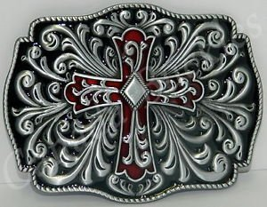 Celtic Irish Enamel Cross Buckle