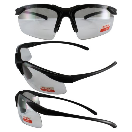 Apex Bifocal Safety Glasses with 1.5x Magnifying Clear Lense