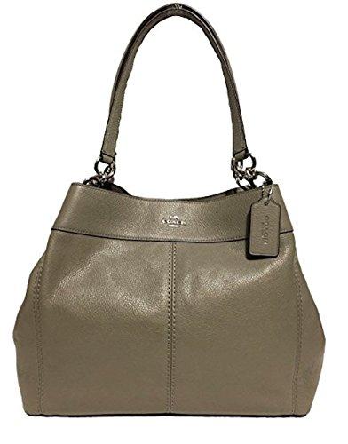Coach F57545 Lexy Pebble Leather Shoulder Bag (SV/Fog) by Coach