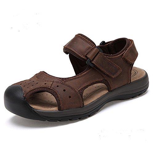Männer Sandalen, Beach - Schuhe, Baotou, Sommer,Braun,Eu42Cn43