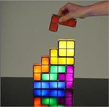 Amazon.com: Lycheers Tetris Light Constructible Desk Lamp Light ...