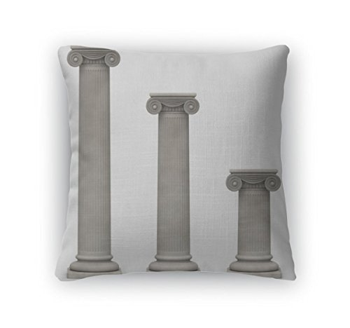 [Gear New Throw Pillow, 16x16, Ionic Columns On White] (Ionic Column)
