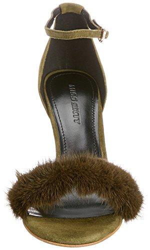 E03430 Verde Shoes para Miss Sintético Vestir Zela Mujer de Zapatos Material 673qj802000e Sixty de 66q7O