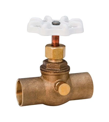 "Nibco Stop And Waste Valve 3/4 "" Lead Free Bronze"