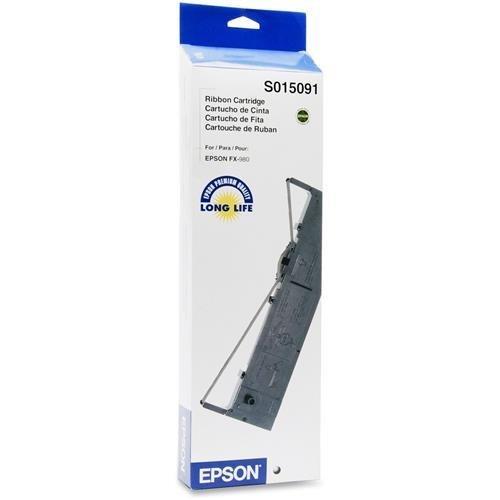 Epson Black Ribbon Cartridge - Black - Dot Matrix - 7500000 (S015091 Black Ribbon)