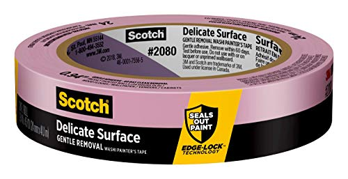 Scotch Delicate Surface Painter's Tape, .94 inch x 45 yard, 2080, 1 Roll, Package may vary
