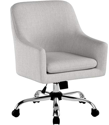 Christopher Knight Home 305755 Morgan Mid Century Modern Fabric Home Office Chair with Chrome Base, Beige, Wasabi by Christopher Knight Home