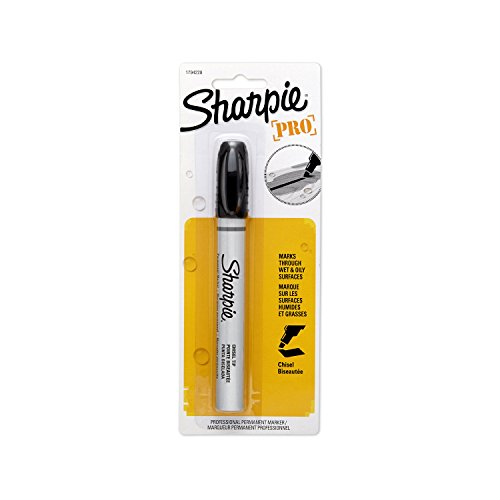 Sharpie Pro Chisel Tip Industrial Strength Permanent MParker, Black, 1-Count (1794228) ()