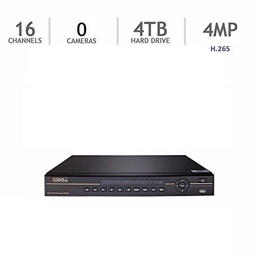 Q-See QC826-4 16-Channel NVR Ultra HD QC IP Series Surveillance H.265 4TB HDD (QC826-4)