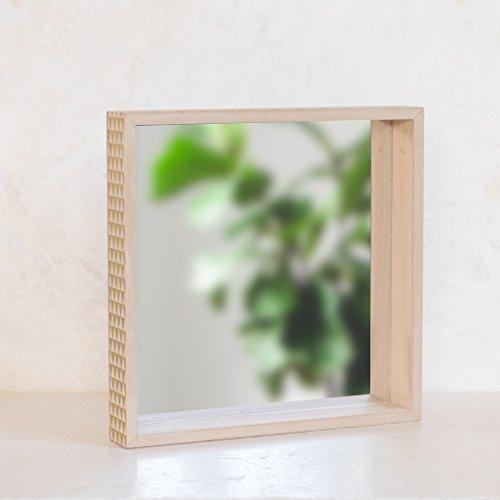 Ankit Gold Triangles Square Mirror , Wooden Mirror Wall Deco