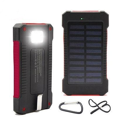 New USB Solar Power Bank 300000mah Portable External Battery Charger For phone