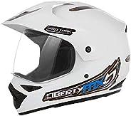 Capacete Pro Tork Liberty Mx Pro Vision Branco Moto