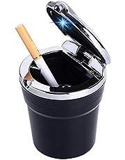 طفاية سجائر اسود بغطاء نيكل