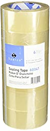 Sparco Sealing Tape Transparent Heavy Duty, 48mm x 50m, 6 Rolls (60041)