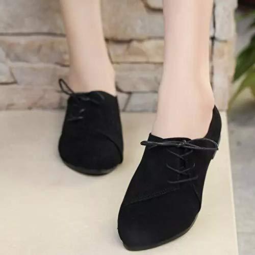 ZHRUI Noir Taille Marron Chaussures EU 36 coloré rqOr7