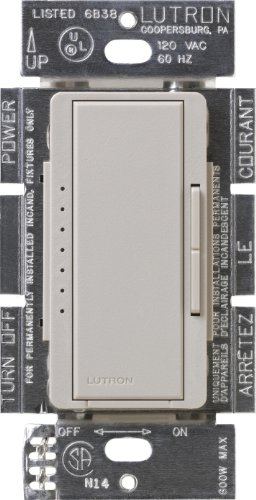 (Lutron Maestro C.L Dimmer Switch for Dimmable LED, Halogen & Incandescent Bulbs, Single-Pole or Multi-Location, MACL-153M-TP, Taupe)