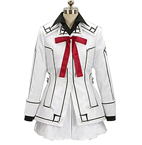 (Poetic Walk Vampire Knight Yuki Cosplay Costume Night Class Uniform (Large, White))