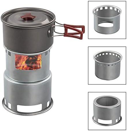 Hornillo de camping portátil, de acero inoxidable, para carbón ...