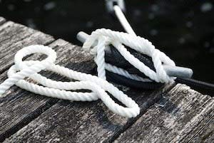 corda per vela parasole corda di cotone 4 mm palo per bandiera corda in poliestere cordino in cotone con maglia cava corda di sbarramento Hydrophob bianco 50 metri