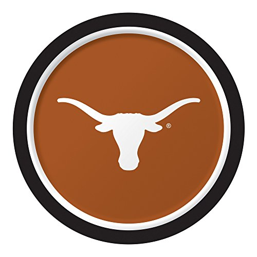 Creative Converting 8 Count Sturdy Style University of Texas, Austin Paper Plates (Dinner Size), 8.75