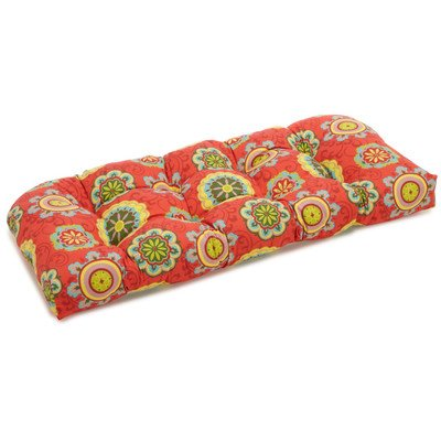 Blazing Needles REO Outdoor Spun Poly Loveseat Patio Bench Cushion - 42 x 19 in. by Blazing Needles