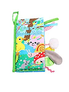 Baby early education three-dimensional cloth 0-2 year old baby can not tear the touch of animal tail cloth book toy garden tail cloth book