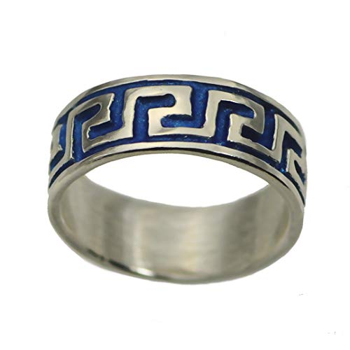 prince of diamonds Blue Sterling Silver 925 Celtic Infinity Knot Tattoo Design Tribal Ring Jewelry