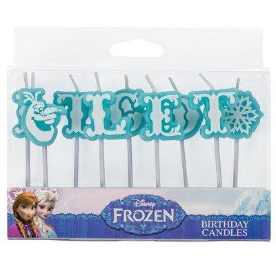 Amazon.com: Let-It-Go Olaf de Frozen Carta Pastel Velas ...