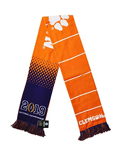 Official 2019 Clemson National Championship Game Knitted Scarf
