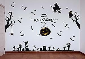 29 Posters Pegatinas de Pared Halloween – Set de Calcomanías de PVC para Decoración Mural – Accesorio para Fiesta de Disfraces de Hogar y Oficina – Apoyo Adorno de Figuras Decorativas