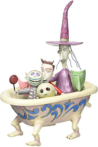 "Disney Traditions by Jim Shore ""The Nightmare Before Christmas"" Tub Stone Resin Figurine, 8"