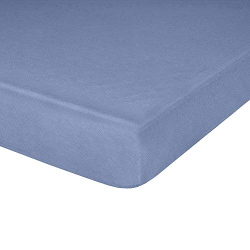 Jersey Knit Crib Sheet with Fitted Stretch, Standard Baby and Toddler Mattress, 52