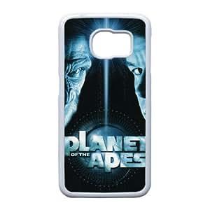 Planeta de los caja del teléfono celular de alta resolución Simios cartel Samsung Galaxy S6 Edge funda blanca del teléfono celular Funda Cubierta EEECBCAAL74673