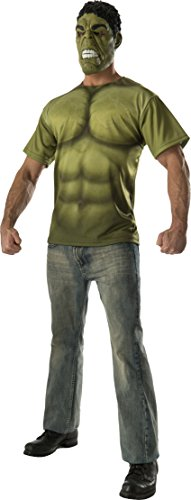Rubie's Costume Co Men's Avengers 2 Age Of Ultron Adult Hulk T-Shirt and Mask, Green, Medium